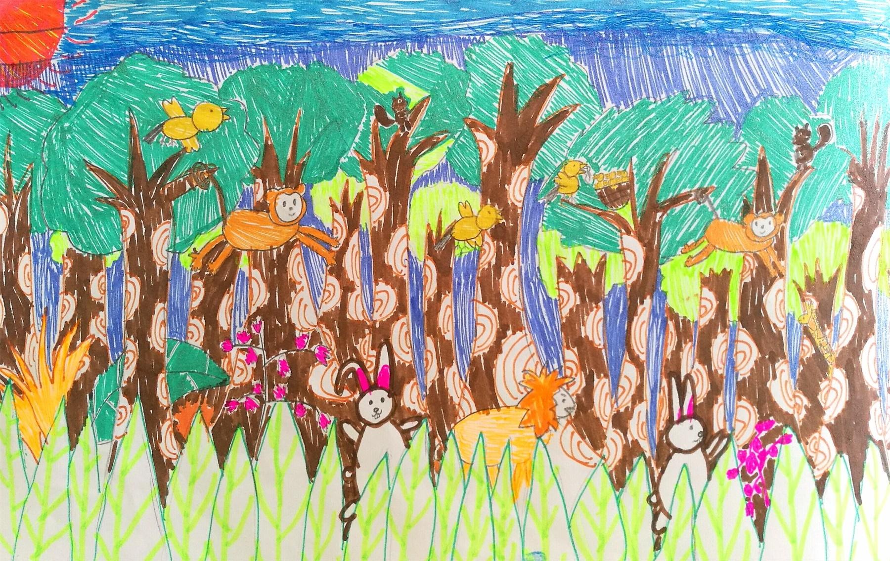 森林里的动物们-深圳市-南山区南山二外教育集团学府二小王美心