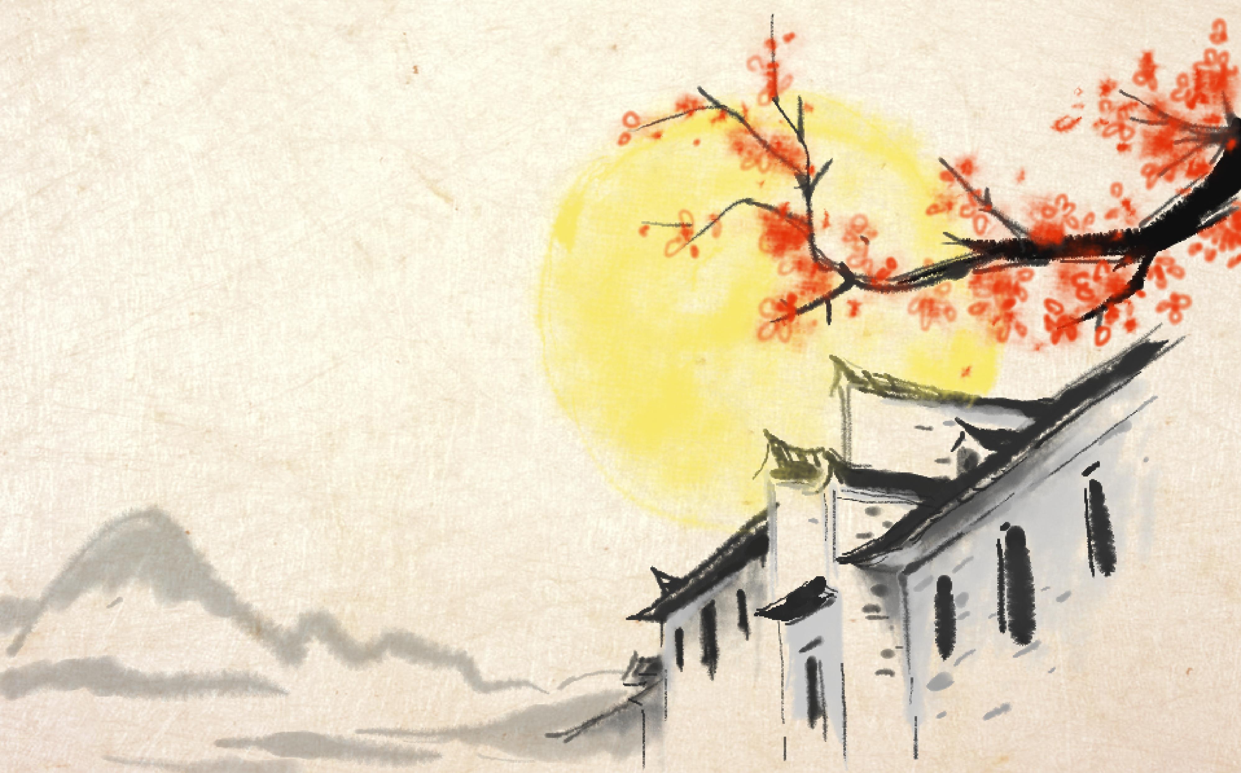 中秋国画_中秋佳节